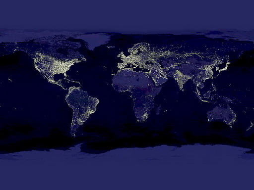 earth night map